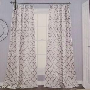 Lush Decor Geo Trellis Curtains (2 panels)